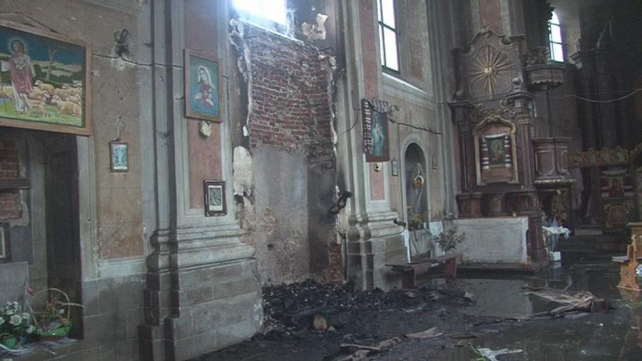 Вогнеборці ліквідували пожежу в церкві